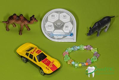 Ajándék játékok gyermekfogászati kezeléshez